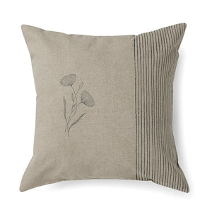 Peony Stripe Cushion Cover