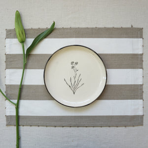 Beige Candy Stripe Placemats (Set of 2)