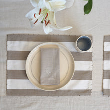 Load image into Gallery viewer, Beige Candy Stripe Placemats (Set of 2)