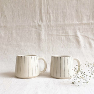Stripe Teacups (Set of 2 )