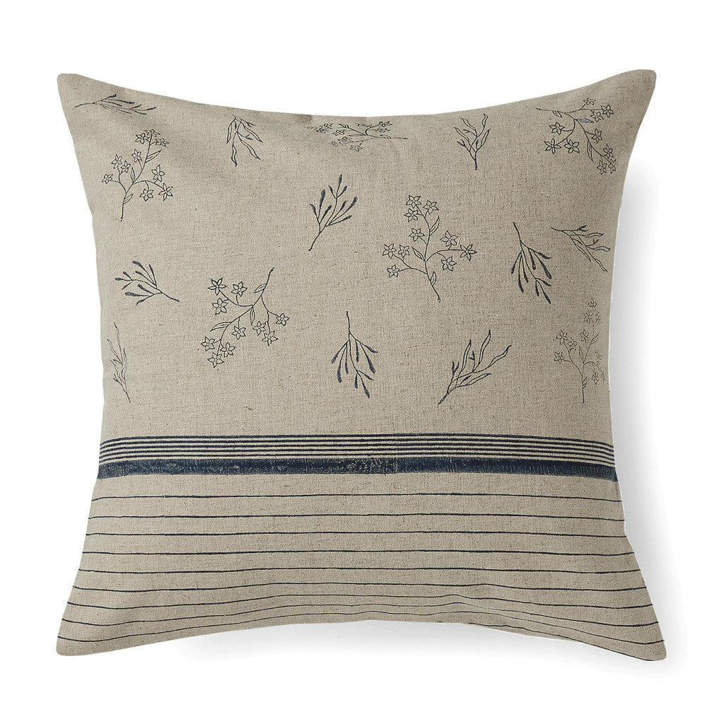 Wildflower Stripe Cushion Cover