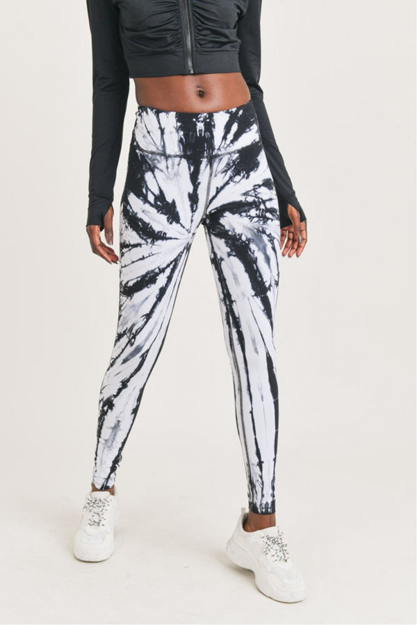 Lianne Black Tie-Dye Leggings