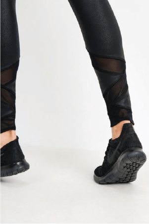 Gloss Leggings with Ankle Details