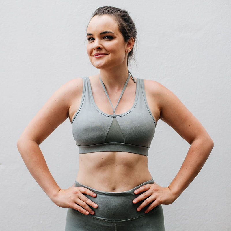 Green Envy sports bra and leggings