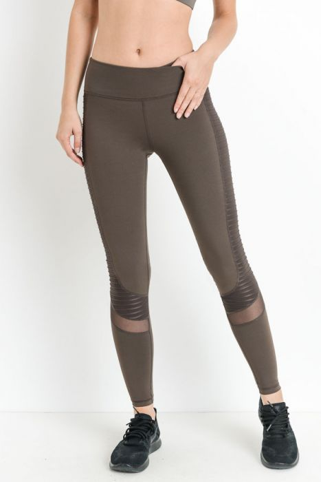 Moto Glide Leggings (Brown)