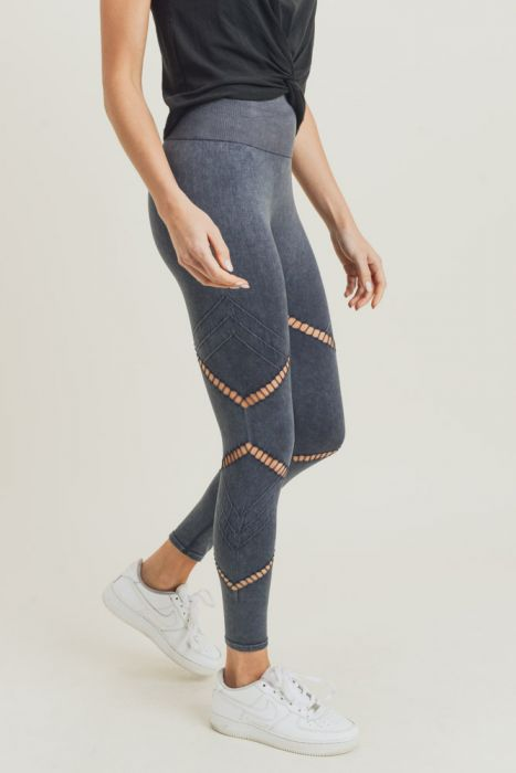 Diamond mineral wash leggings