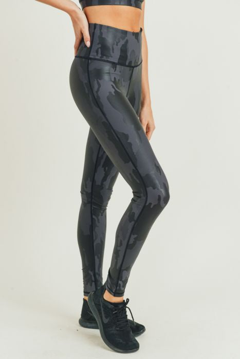 Black Foil Leggings