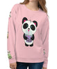 Boba Bear All-Over-Print Unisex Sweatshirt Specialty Made to Order by Pandi the Panda