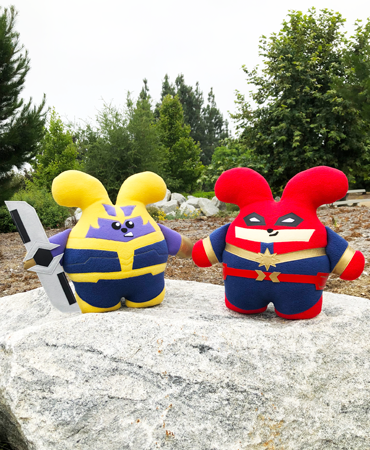 SDCC Set: Mad Titan Babee & Babee Marvelous Handmade Plush by Fat Rabbit Farm