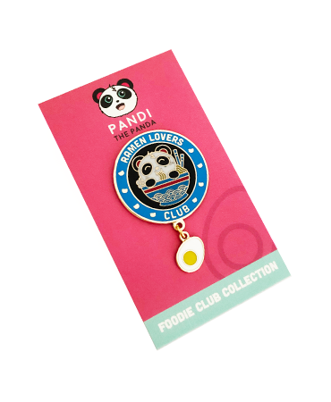 Ramen Lover's Club Enamel Pin by Pandi the Panda