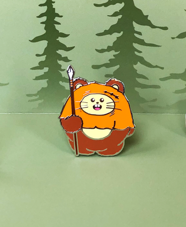 Ewok Babee | Star Wars Inspired Enamel Pin by Fat Rabbit Farm