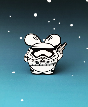 Trooper Babee | Star Wars Inspired Enamel Pin by Fat Rabbit Farm