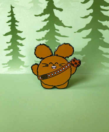 Wookie Babee | Star Wars Inspired Enamel Pin by Fat Rabbit Farm