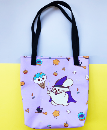 Spooky Donuts All-Over Print Bag by Fat Rabbit Farm