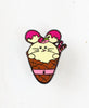 Sweet Babee Bunny Enamel Pin by Fat Rabbit Farm