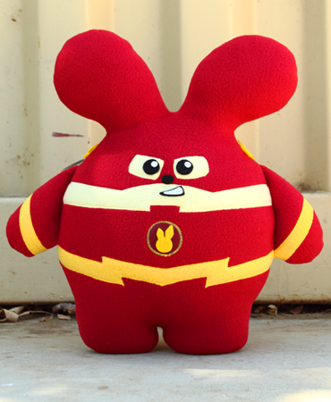 Speedster Babee Handmade Plush by Fat Rabbit Farm