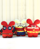 SDCC Trio Bundle: Amazon, Speedster, and Mercenary Babee Handmade Plush by Fat Rabbit Farm