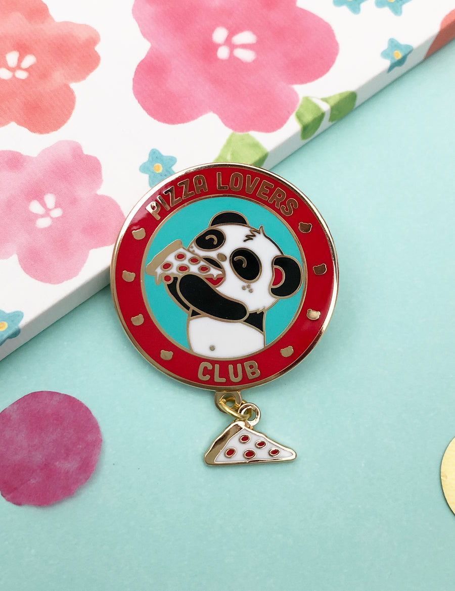 Pizza Lover's Club Enamel Pin by Pandi the Panda