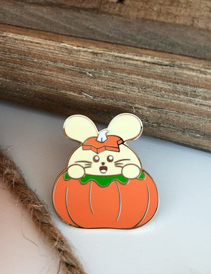 Autumn Pumpkin Babee Enamel Pin