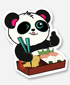 Oishii Vinyl Sticker by Pandi the Panda