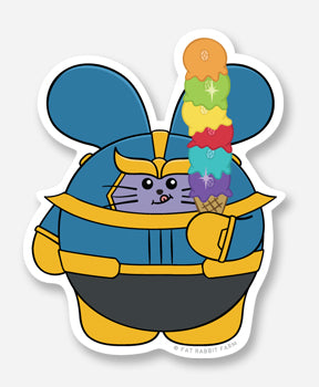 Infinity Ice Cream Vinyl Sticker by Fat Rabbit Farm