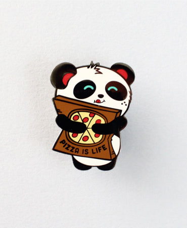 Pizza is Life Enamel Pin by Pandi the Panda