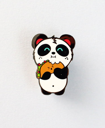 Taco Love Enamel Pin by Pandi the Panda