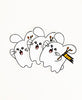 Boo! Ghost Babee Vinyl Sticker Pack (3) by Fat Rabbit Farm