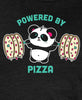 Powered By Pizza Women's T-shirt by Pandi the Panda