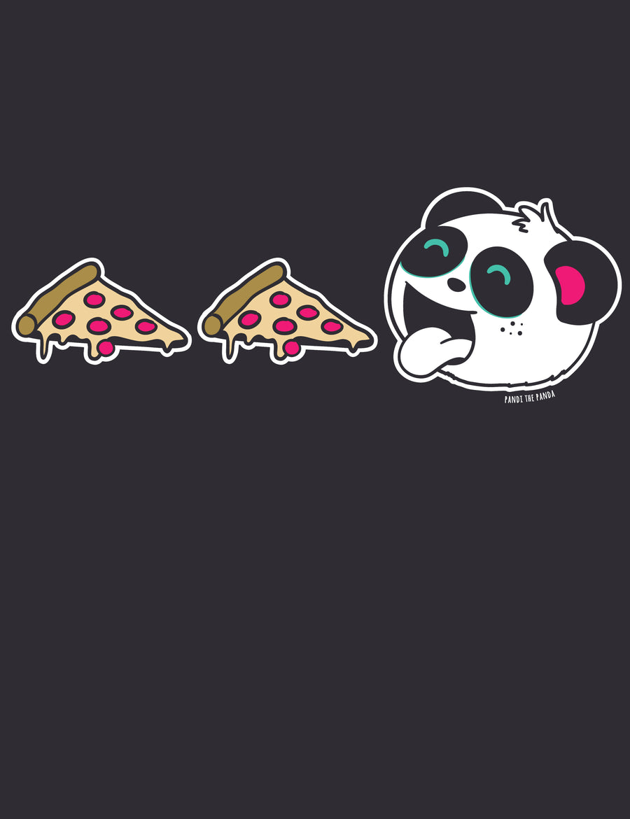 Unlimited Pizza Men's T-shirt by Pandi the Panda