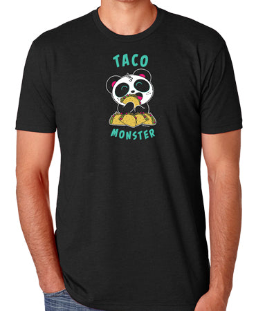 Taco Monster Men's T-shirt by Pandi the Panda