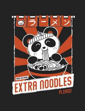 Extra Noodles Women's T-shirt by Pandi the Panda