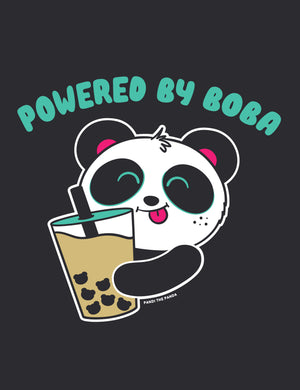Powered By Boba Men's T-shirt by Pandi the Panda
