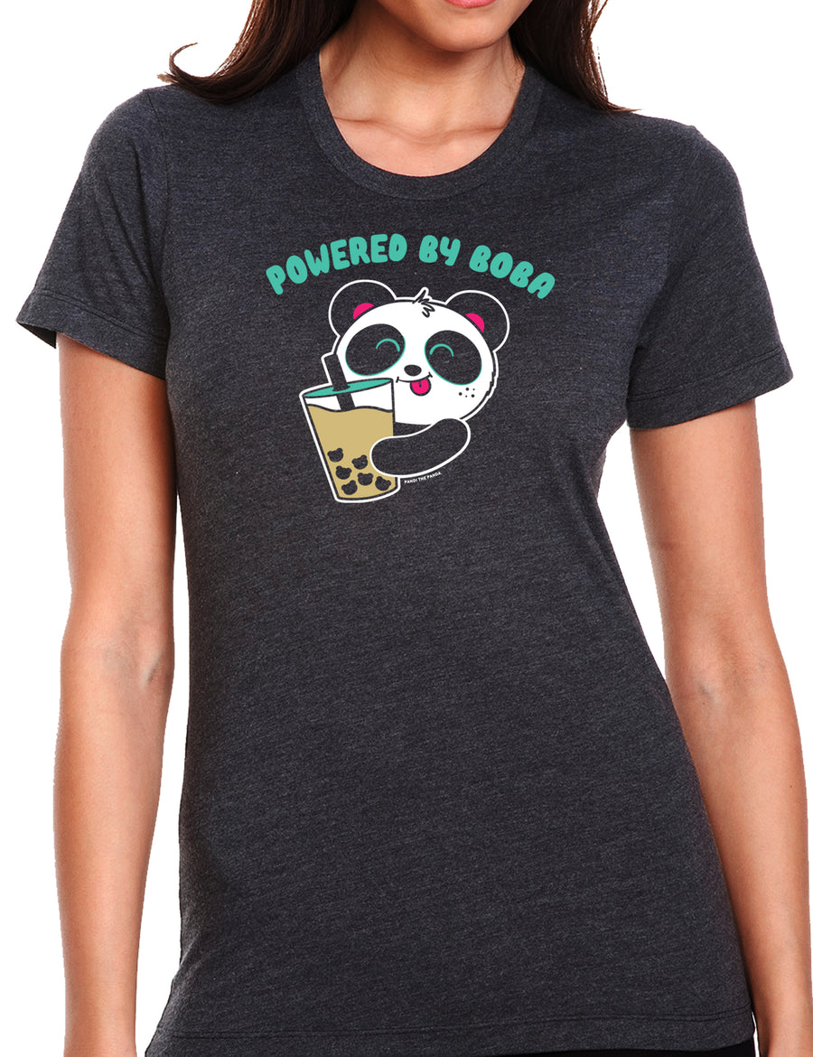 Powered By Boba Women's T-shirt by Pandi the Panda