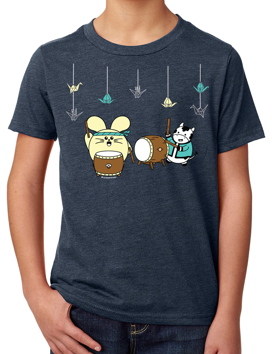 Taiko with 1000 Cranes Kid's T-shirt