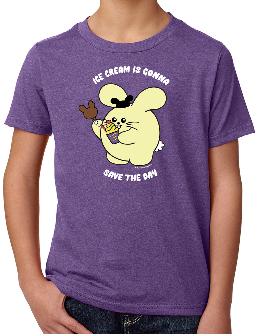 Ice Cream is Gonna Save the Day Kid's T-shirt