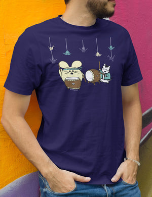 Taiko with 1000 Cranes Men's T-shirt