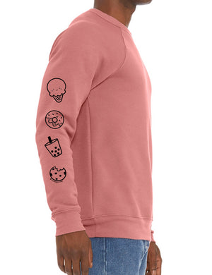 Happy Babee w/ Sleeve Print Unisex Sponge Fleece