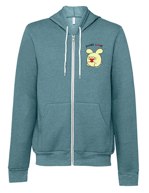 Share Love Zip-up Hoodie