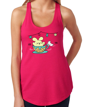 Ice Cream Tea Cups Women's Tank Top by Fat Rabbit Farm