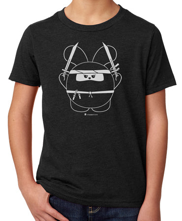 Ninja Time! Kid's T-shirt by Fat Rabbit Farm