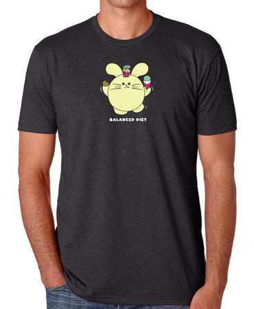 Balanced Diet Men's T-shirt by Fat Rabbit Farm
