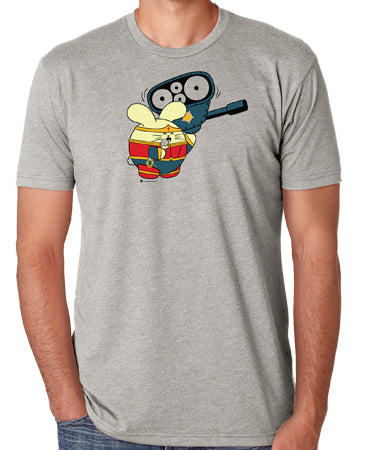 Powered By Ice Cream Men's T-shirt by Fat Rabbit Farm