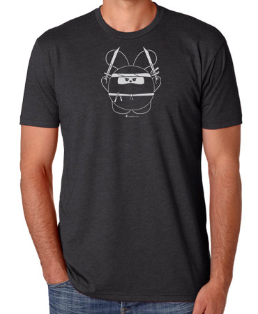 Ninja Time! Men's T-shirt by Fat Rabbit Farm