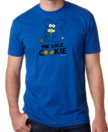 Me Like Cookie Men's T-shirt by Fat Rabbit Farm