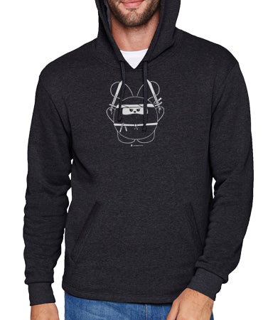 Ninja Time Unisex Pull-Over Hoody by Fat Rabbit Farm