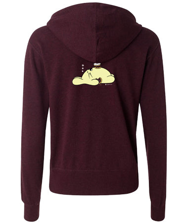 Nap Time Unisex Zip-Up Hoodie by Fat Rabbit Farm