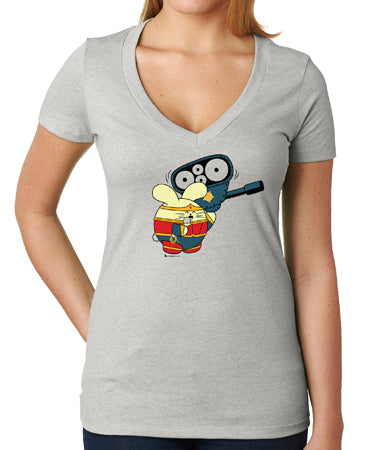 Powered by Ice Cream Women's V-Neck by Fat Rabbit Farm