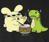 Taiko with T-Rex Men's T-shirt by Fat Rabbit Farm