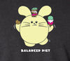 Balanced Diet Women's T-shirt by Fat Rabbit Farm